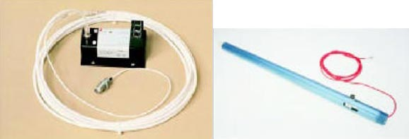 Figure 8. Left: Early non-contact Eddy current probe. Right: Shaft rider.